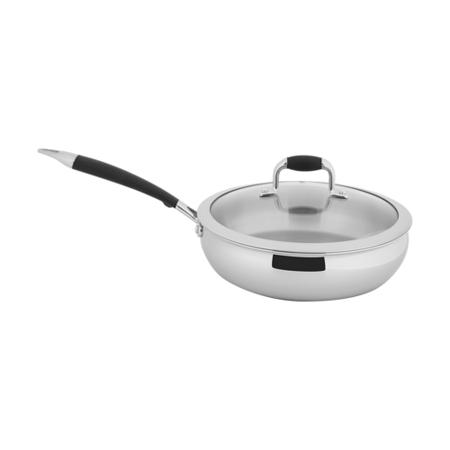 【歐喜廚】OSICHEF 蘋果系列-不鏽鋼煎鍋24cm