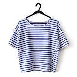 【LOVE20東京館】閒適感條紋休閒T恤(藍)