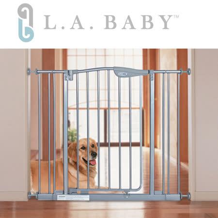 L.A BABY  雙向自動回彈上鎖安全-寵物門欄