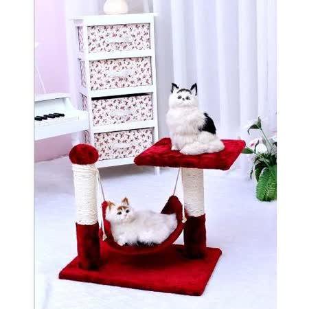 吊床貓跳台◎附吊床可提供貓咪休息-d9(採用短毛絨布料)