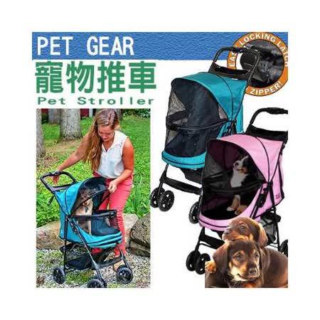 美國PET GEAR《PG8100NZ》快樂足跡寵物推車 (快速單手摺疊收納)