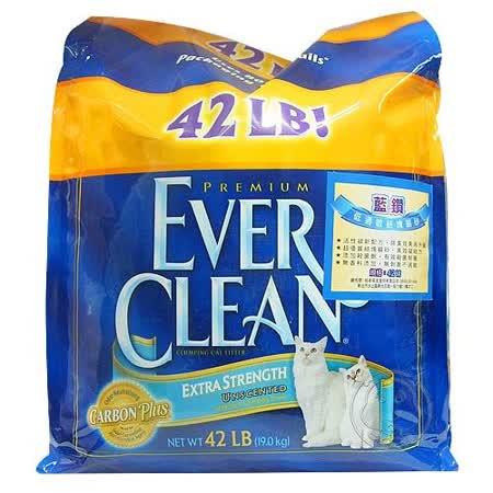 美國EVERCLEAN 》低過敏結塊貓砂(藍標)42lb送香粉一包