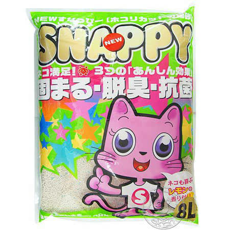 《SNAPPY》脫臭‧粗木粉球砂貓砂8L*2包