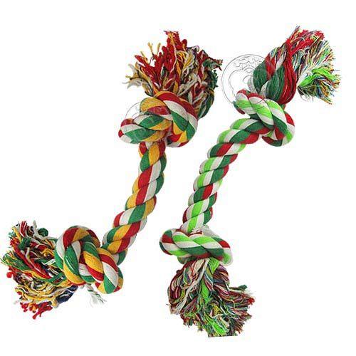 寵物專用》互動耐咬麻花結繩玩具(M) 2種顏色