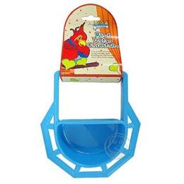 《SOLEIL》鳥類飼料飲水盆(藍色-大)