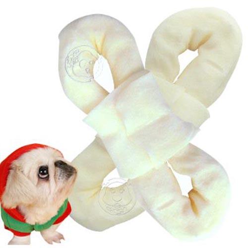 柏妮絲~中小型犬潔牙骨4.5吋牛奶8字環^~25入