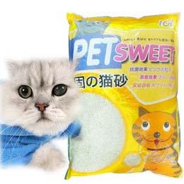 PET SWEET》加菲貓貓砂 (粗砂) 10L*3包