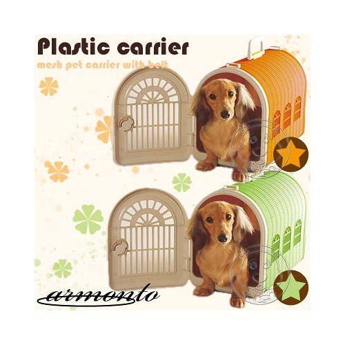 阿曼特armonto~藤型寵物雙門提籠背帶 ~橘色│綠色