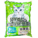 《QQ Kit》綠茶強力脫臭抗菌再生紙貓砂(7L)*5包