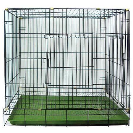 台灣製造★《雙門折疊式》靜電黑體居家狗籠-3尺