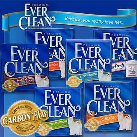 【2盒】美國EverClean 超強除臭低敏結塊貓砂 25磅