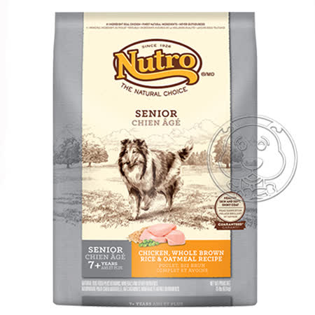 美士Nutro《高齡犬 雞肉+米》犬糧(30lb 13.6kg)