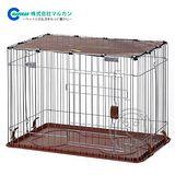 日本MARUKAN《DC-119》好摺疊圍欄寵物籠(茶色)
