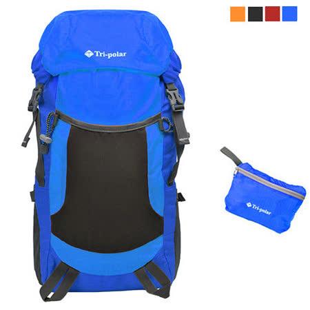 PUSH!戶外登山旅遊用品超大容量35L可折疊登山包背包騎行包旅行包萬用旅行袋