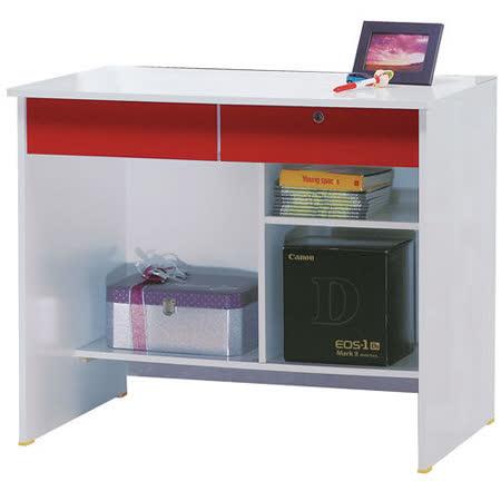 《活力泉源》3尺電腦書桌下座-紅白