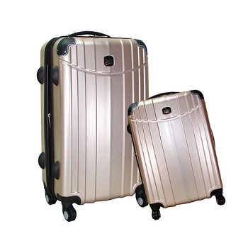【BATOLON寶龍】20+24吋/小組-時尚髮絲紋TSA鎖ABS輕硬殼旅行拉桿箱