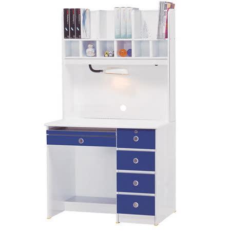【真心勸敗】gohappy快樂購《天才寶貝》3尺電腦書桌(上+下)-藍白好嗎大 買 家 購物 金