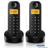 【飛利浦PHILIPS】數位子母無線電話機 D1202B