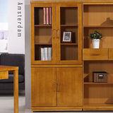 《鹿特丹》肯尼2.7尺四門書櫃-柚木色