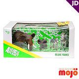 【MOJO FUN 動物模型】精裝禮盒-象與斑馬家族四件組 (387312)