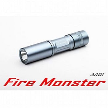 【Fire Monster】 3號電池15W鋁鎂合金超迷你激白光手電筒 (銀色)