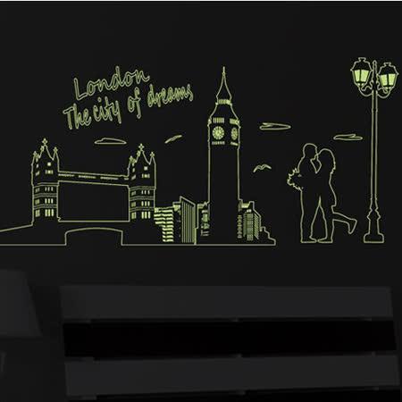 時尚壁貼 - 夜光鐵橋