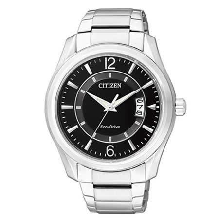【CITIZEN】紳士個性光動能腕錶 AW1030-50E
