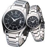 【CITIZEN】簡約個性光動能對錶 AW1030-50E+AW1010-57E