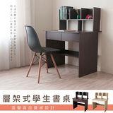 【奧克蘭】開放式書架型書桌-四色可選