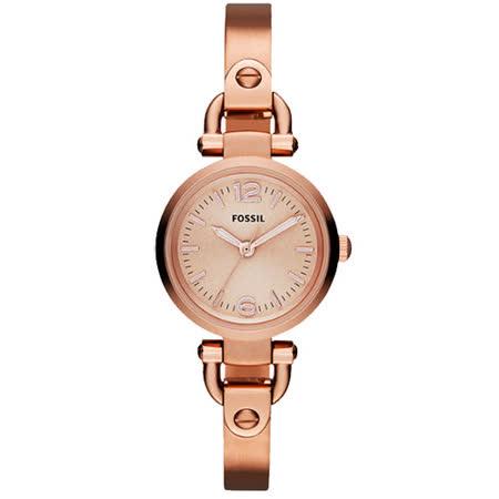 FOSSIL MINI 優雅小錶徑時尚手環女錶-玫塊金 ES3268