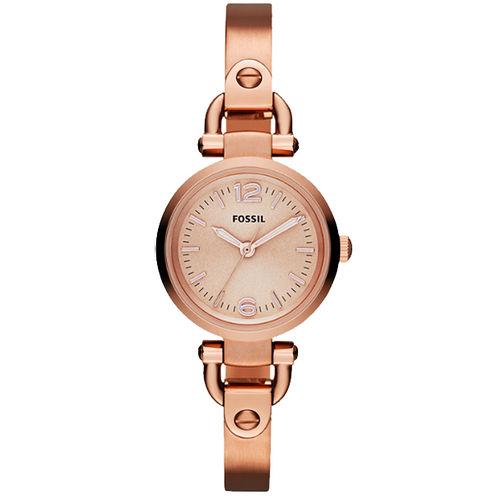FOSSIL MINI 優雅小錶徑 手環女錶~玫塊金 ES3268