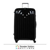 《Traveler Station》LOJEL 29吋WAVE輕量波紋行李箱-黑色