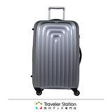 《Traveler Station》LOJEL 29吋WAVE輕量波紋行李箱-銀色