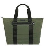 COACH PACKABLE 皮標雙槓尼龍手提肩背包(綠)