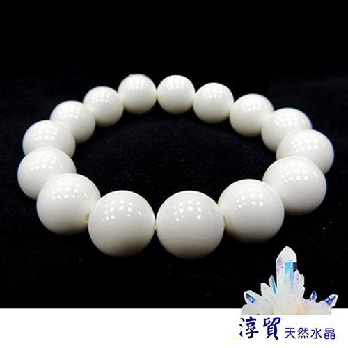 Blanco淳貿水晶 天然硨磲手珠 14mm