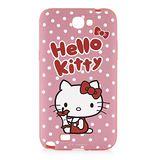 Sanrio 三麗鷗 Hello Kitty SAMSUNG Galaxy note2 白點點蘋果心 軟式保護套