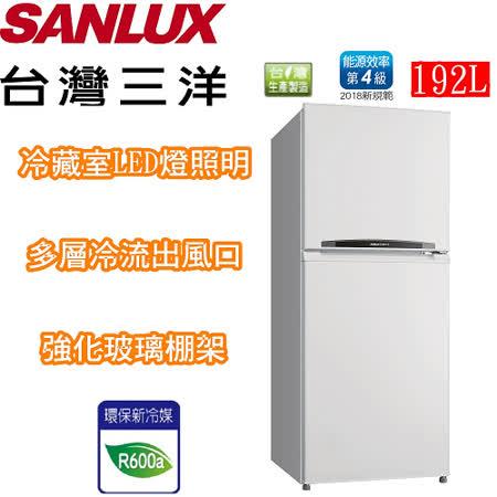 SANLUX 台灣三洋 192公升雙門定頻冰箱 SR-B192B
