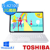 TOSHIBA L40-B-00H002 14吋 第四代i5-4210U 1TB大容量 2G獨顯 Win8.1 輕薄智能筆電 (白) 【贈原廠筆電包+原廠滑鼠】