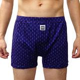 【BVD】NEW YORK 天絲系列 圓圈點點針織平口褲(藏青色)