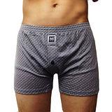 【BVD】NEW YORK 天絲系列 線條針織平口褲(灰色)