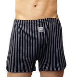 【BVD】NEW YORK 天絲系列 條紋針織平口褲(黑色)