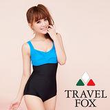 【TRAVELFOX 旅狐】時尚運動款連身三角泳衣C14723