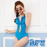 【SUMMERLOVE 夏之戀】時尚性感連身三角泳衣E14708