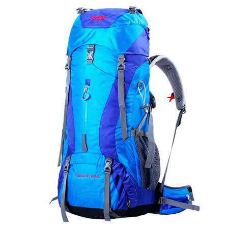 PUSH!登山戶外用品 60+5L專業型 登山背包 自助旅行背包 雙肩背包 贈防雨罩