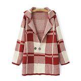 韓版限定【Sweet Dress】雙釦設計格紋針織外套(共四色)