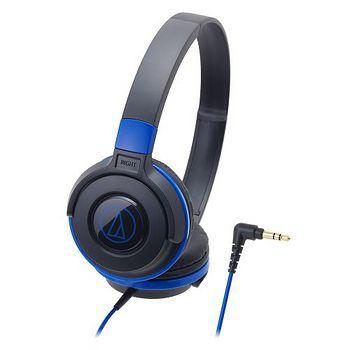 鐵三角ATH-S100黑藍潮流DJ款可摺疊耳罩式耳機