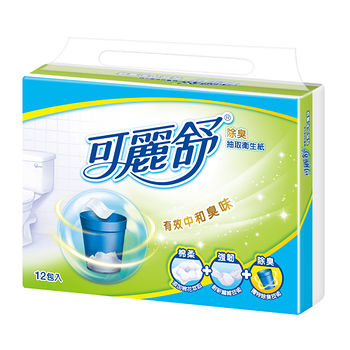 可麗舒除臭抽取式衛生紙100抽*12包