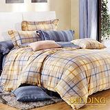 【BEDDING】似水年華 100%棉雙人涼被床包組