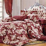 【BEDDING】金色時光 100%棉雙人涼被床包組