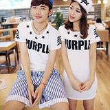 《韓國K.W.》星空戀曲字母印花情侶裝